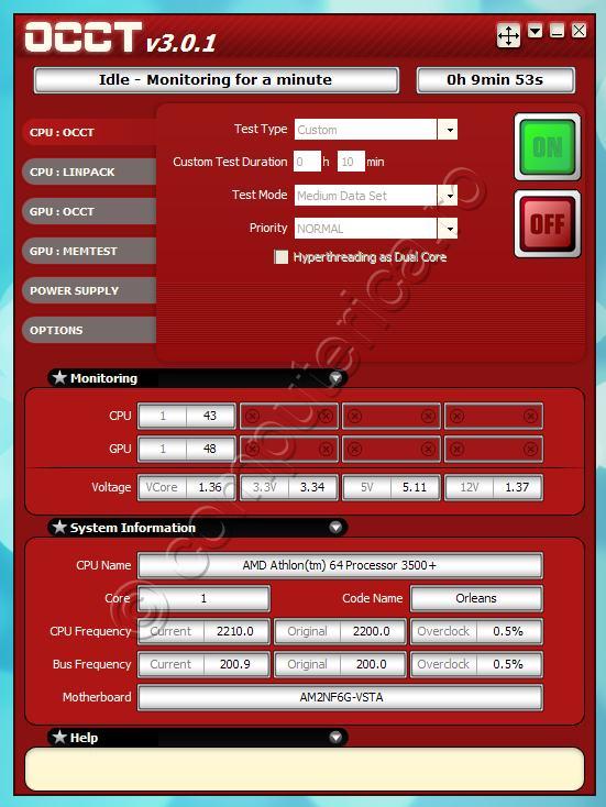 OCCT Perestroïka - Stress test pentru CPU, GPU, PSU