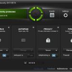 Interfața Bitdefender 2013 BETA