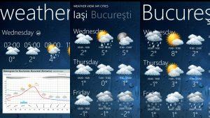 aplicatii meteo - Weather Tile WP