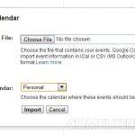 Importă în Google Calendar un fișier ical