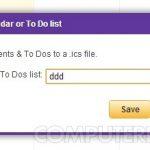Export Yahoo Calendar