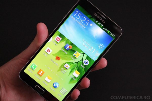 Samsung Galaxy Note 3 display cool
