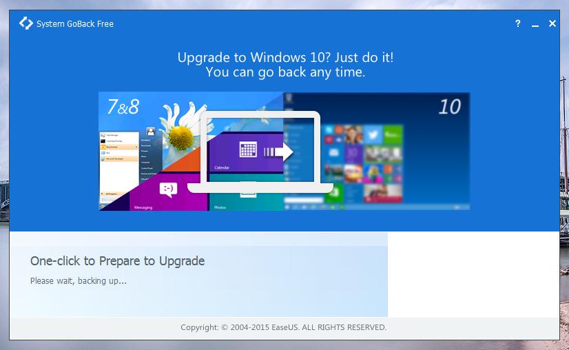 Easeus Go Back Free Upgrade
