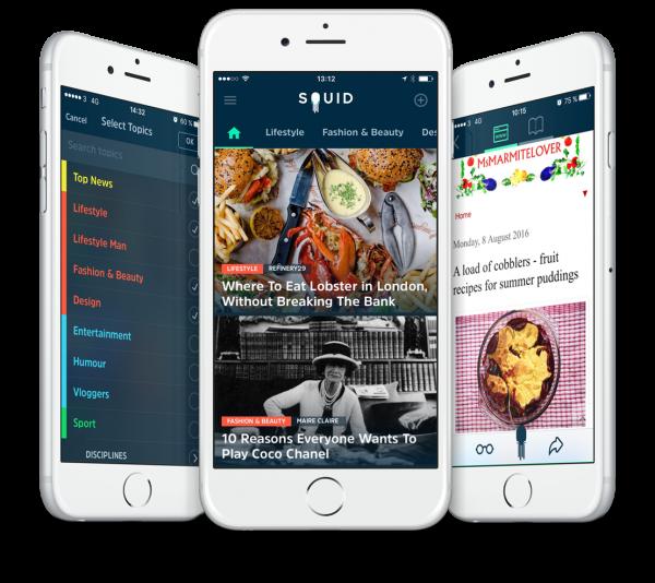 Squid -  Aplicație de știri pentru Android și iOS